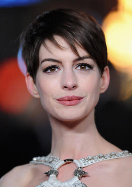 Anne Hathaway at the world premiere of &quot;Les Miserables&quot; in London.